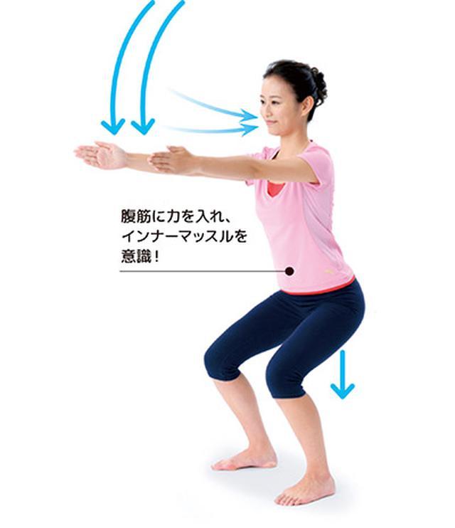 画像2: 1日5分!筋肉と骨を鍛えて若返る 「スクワット」と「かかと落とし」のやり方