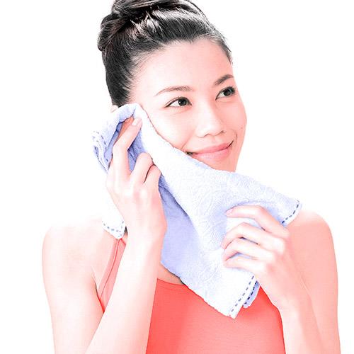画像11: ガーゼ洗顔のやり方