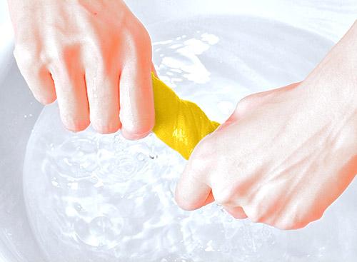 画像4: ガーゼ洗顔のやり方