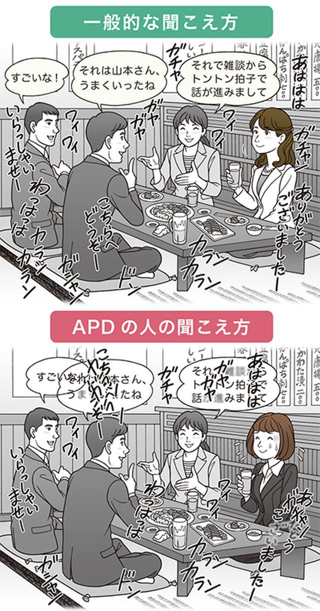 画像: ──APDの人には、人の言葉がどのように聞こえるのでしょうか。