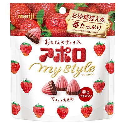 画像: 2月4日発売予定の「アポロマイスタイル」(41g) は程よい甘さ。 参考価格:150円 (税別)