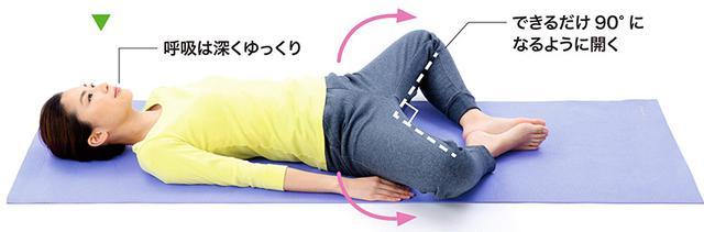 画像3: 1分で疲れが抜ける 「寝たままひざストレッチ」のやり方