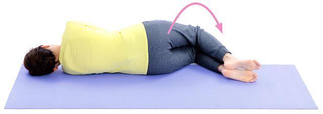 画像8: 1分で疲れが抜ける 「寝たままひざストレッチ」のやり方