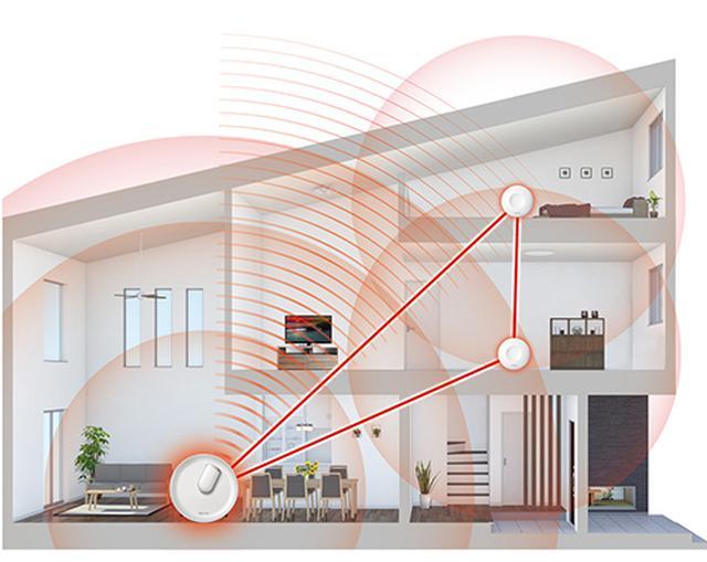 画像: 3階建てなどの広い家でも、快適なWi-Fi環境が作れる www.buffalo.jp