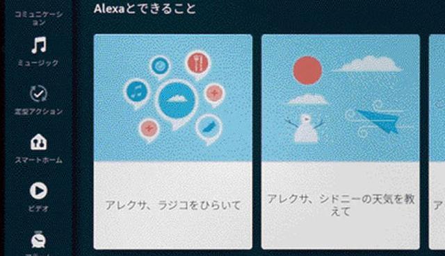 画像: スケジュールの確認、家電の操作など、Alexaのさまざまな機能が使えるほか、歌詞付きの音楽再生や写真再生、ビデオ通話なども可能だ。