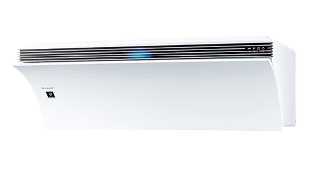画像: 空気清浄能力が業界ナンバーワンをうたうエアコン。Wi-Fi機能を内蔵しており、遠隔操作だけでなく、室内の空気状態をスマホに通知する。