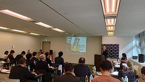 画像: サントリーBOSSの2020年春の戦略を発表する、サントリー食品インターナショナルの柳井慎一郎常務執行役員。