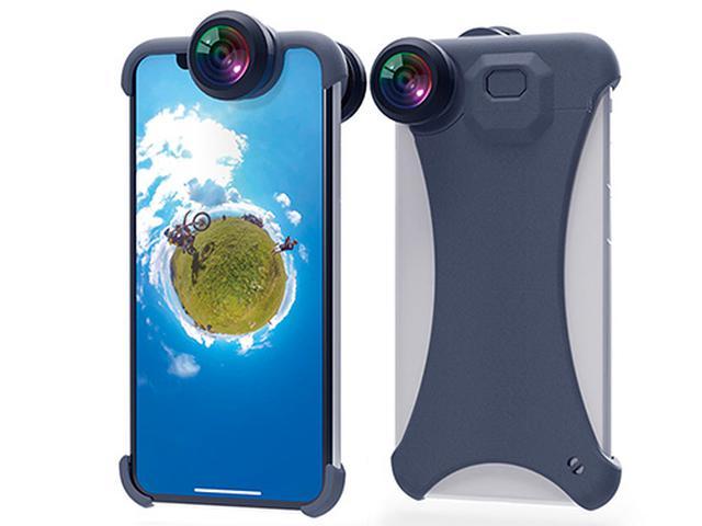 画像: iPhoneの前後に装着するだけでOK!360度の景色を収められるレンズキット