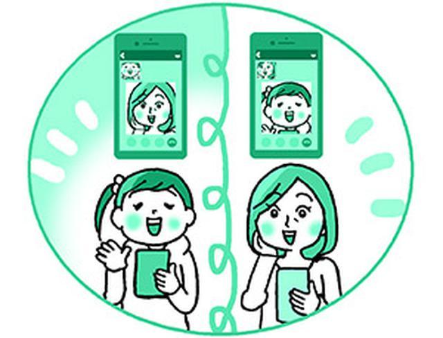 画像5: 顔を見ながら話せる 無料ビデオ通話