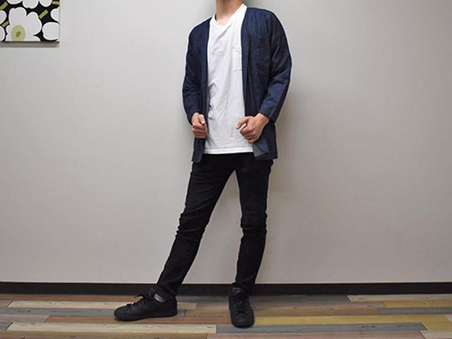 画像: ゆるく着られるのにだらしなくない「トルコ綿インディゴ染めダボシャツ」