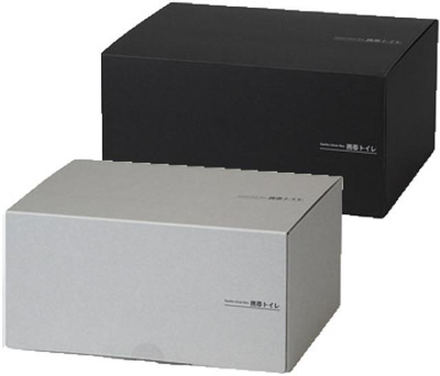 画像: 春に発売予定の「サニタクリーン・ボックス」(予想実売価格:2750円)。便袋10枚入りで、ネットは付属しない。ボックスカラーは2色。