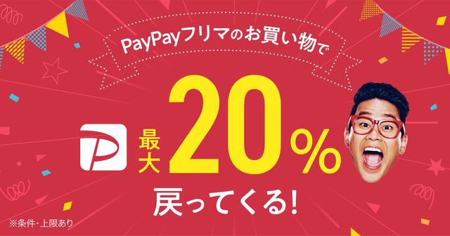 画像: PayPayフリマの購入で最大20%相当戻ってくる! さっそく購入!