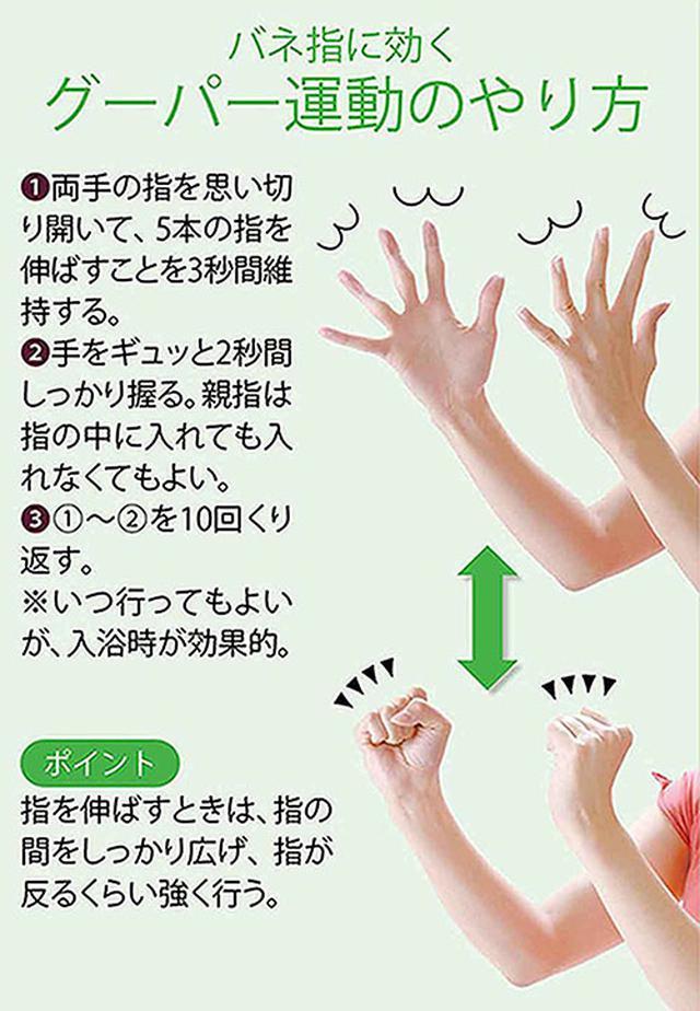 画像: バネ指が改善する体操のやり方