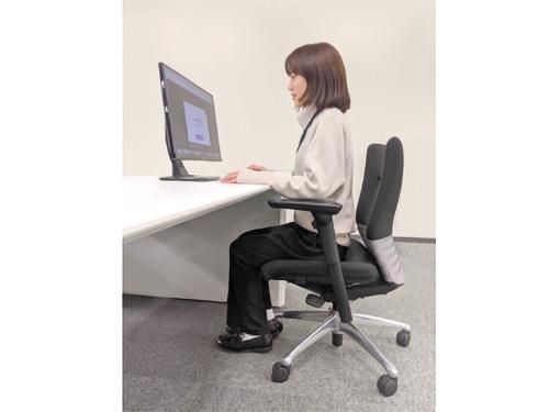 画像: ウエブカメラを内蔵したパソコンの前に座ることで、自分ではわかりにくいパソコン作業中の姿勢をチェックすることができる。