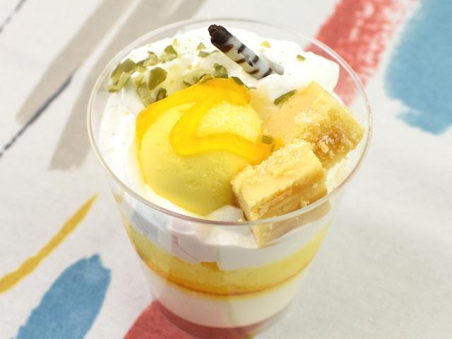 画像: 酸味と甘みがマッチした「レモンパフェ」
