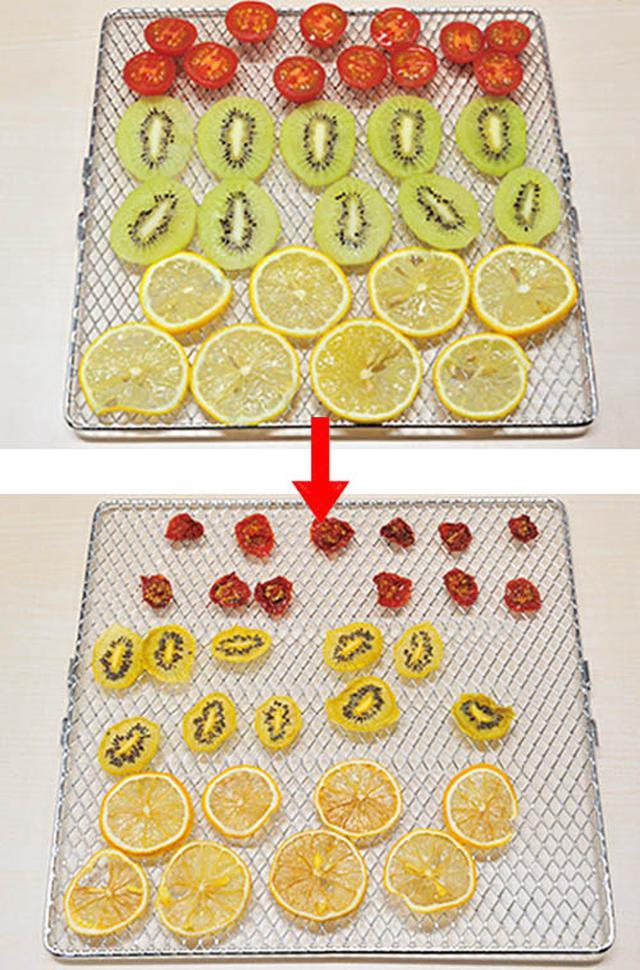 画像: 「低温ファンモード」では、ドライフルーツが。ペット用のジャーキー作りにも便利。