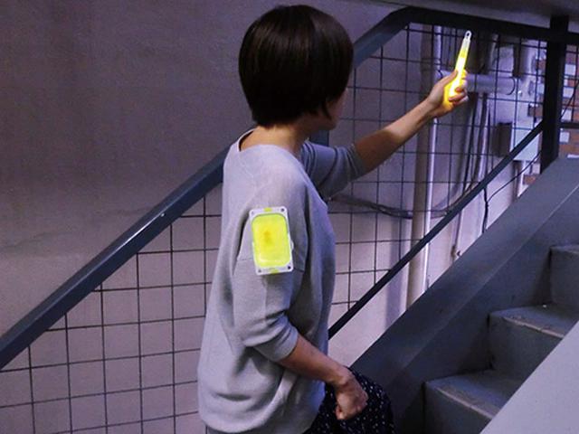 画像: スナップライトと組み合わせて使うと、より安全に避難できます。