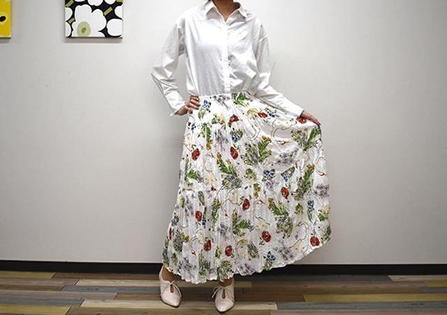 画像: ゆるふわなデザインがかわいい「ツイストプリーツロングスカート」