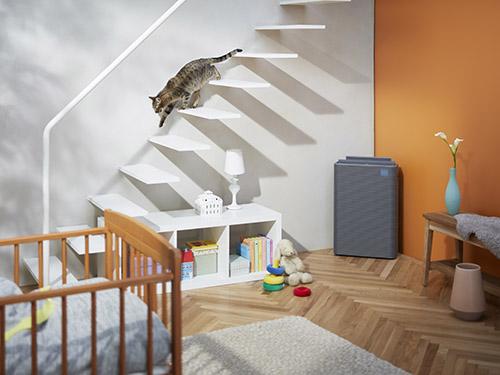 画像: グッドデザイン賞やIFデザインアワードなど、著名なデザイン賞を複数受賞。見た目だけでなく、適用床面積は51畳で、アレルオフ微細じんHEPAフィルター、脱臭フィルターを備える本格派だ。