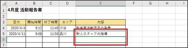 画像: 「 Ctrl + Z 」 ❸ 選択している場所がほかのセルに移動している場合でも、[Ctrl]+[Z]で一つ前の状態に戻すことができる。