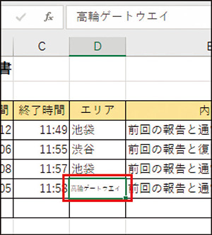 画像: ❸ 設定したセルの中の文字が自動的に小さくなって左右の幅に収まった。