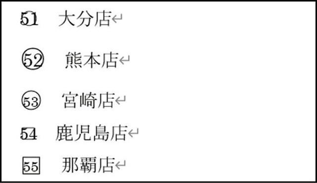 画像: ❹ 囲い文字機能を使った結果。