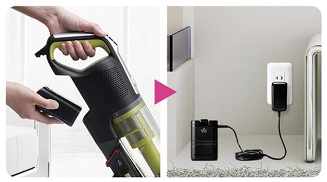 画像: 着脱式なので、本体から離れた場所でも充電可能。 aqua-has.com