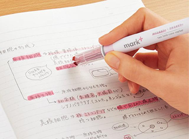 画像: キャップを外さなくても2色の使い分けができる。ノート整理の強い味方だ。