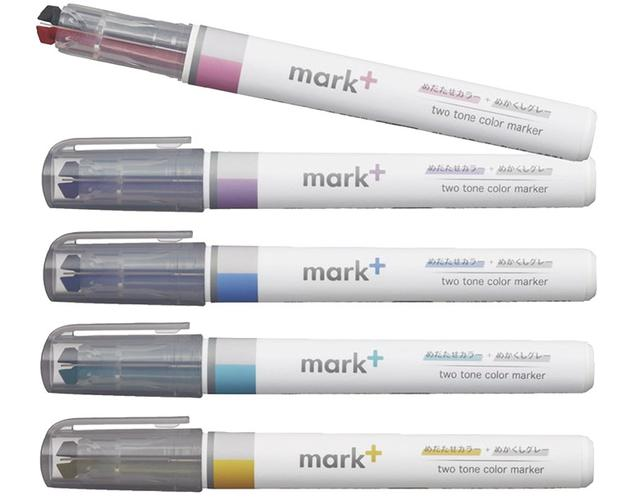 画像: 2色を一つのペン先に採用した2トーンカラーのマーカー