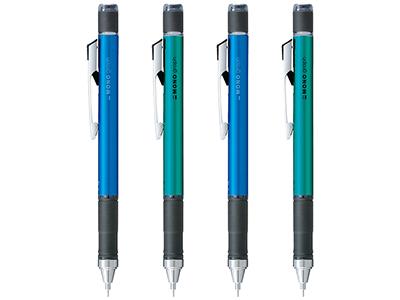 画像: メタルクリップやラバーグリップを採用した高級シャーペン