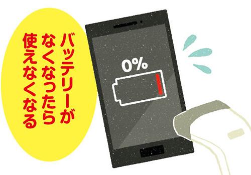 画像: 充電切れがないように、モバイルバッテリーを持ち歩くなどの対策が必要。