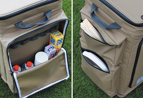 画像: 左右には大型のサイドポケットを装備。キッチンまわりの小物をたっぷりと収納しておくことができる。