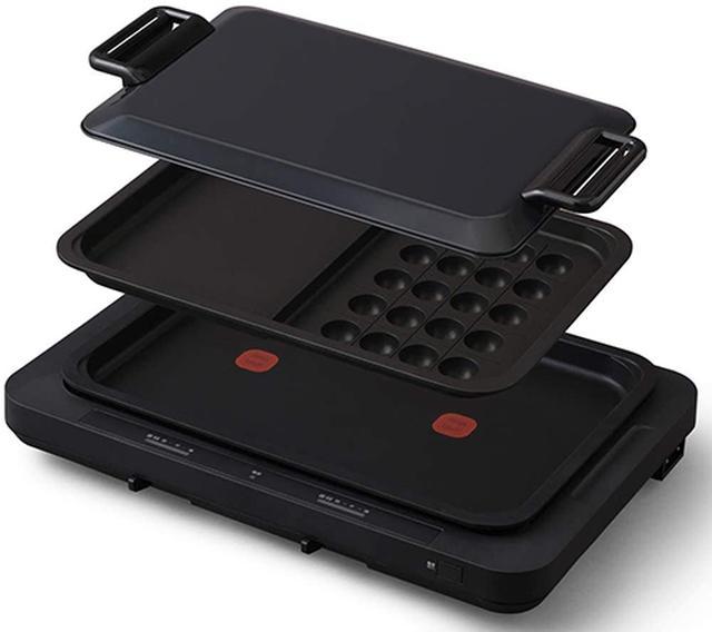 画像: ホットプレート 左右温度調整 2枚 ブラック WHPK-012-B www.irisplaza.co.jp