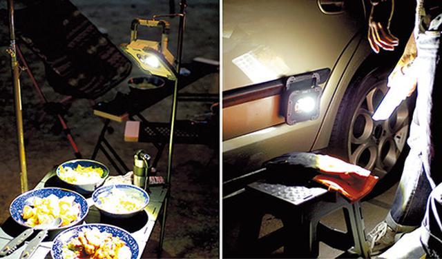 画像: 4とおりの設置ができるので、キャンプサイトはもちろん、夜間のクルマのトラブル時や災害時など、さまざまなシーンで活躍できる。