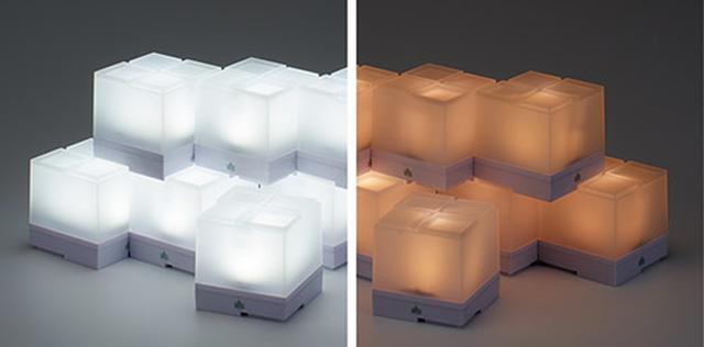 画像: 白色と暖色の切り替えが可能。2セット用意すれば、さまざまな演出ができる。