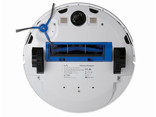 画像: % 回転ブラシとサイドブラシを一つずつ装備。走行は小気味よくスピーディだが、走行音に雑音が混ざることも。