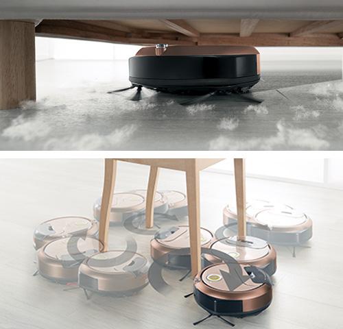 画像: 小ささを生かし、椅子の脚周りも念入りに掃除できる。10センチの高さがあれば、ベッドやソファーの下も清掃可。