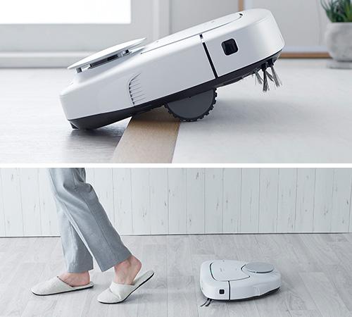画像: 本体を持ち上げるようにして段差を乗り越えたり、人の足を認識して後ろをついていったりなど、ユニークながら実用的な新機能を搭載。