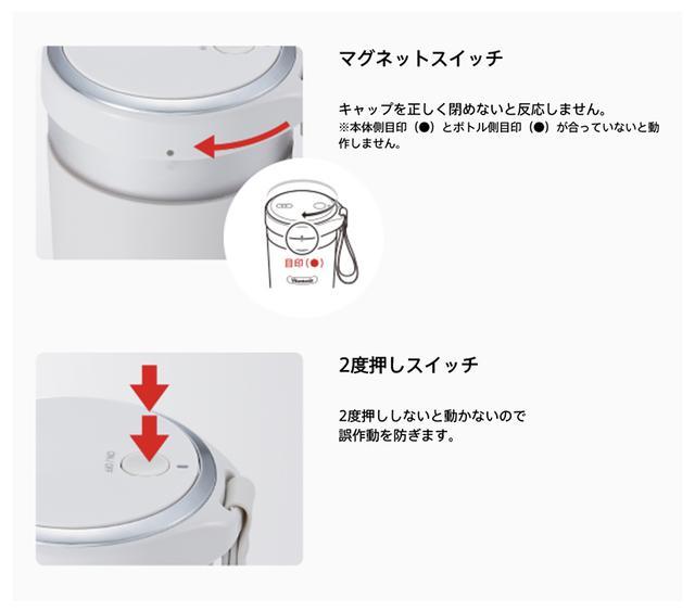 画像: 2つの安全機能を搭載。 www.vitantonio.jp