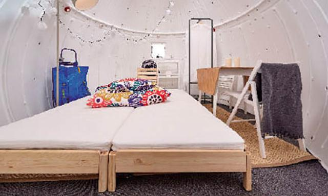 画像: こちらは多機能家具を使った災害用の仮設住宅のプラン。13万7360円。