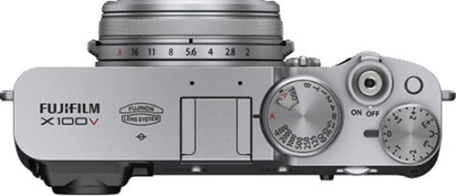 画像: 一般的な撮影モードダイヤルではなく、シャッタースピードダイヤルを搭載。このダイヤル内には、ISO感度を設定する小窓もある。
