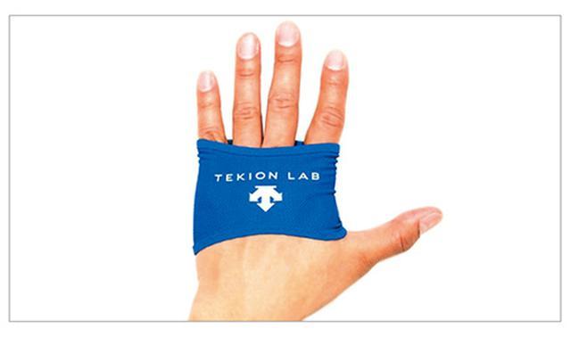 画像: 手のひらを12℃で冷やすことで体の深部体温の上昇を抑制するグローブ型暑熱対策アイテム