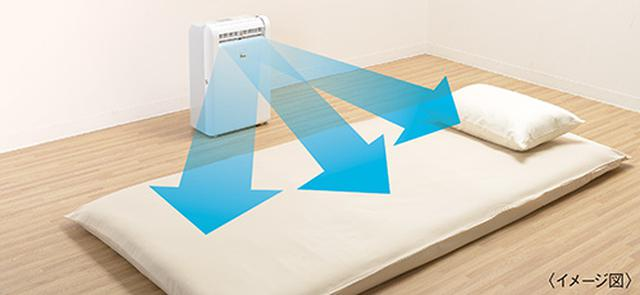 画像: ねらいを絞って送風する独自技術で布団乾燥機能を新搭載。