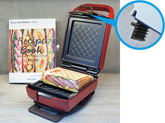 画像: フタの閉め具合が調整可能。具材のはみ出しを防ぐ。