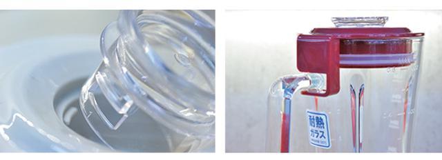 画像: 取っ手に引っ掛ける独自のロック機構&蒸気穴で、中身が熱々でもフタが外れない。