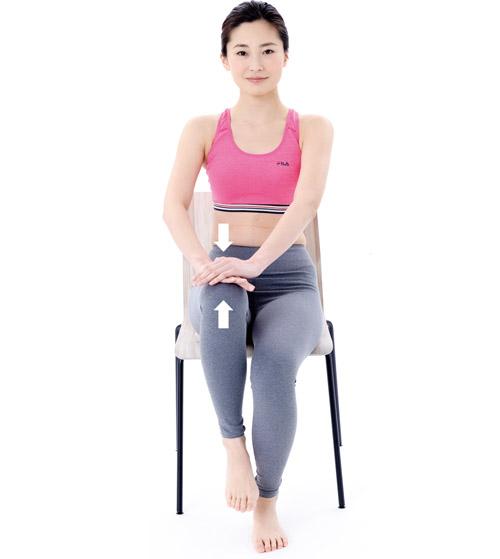 画像: ●イスで行う腸腰筋トレーニング