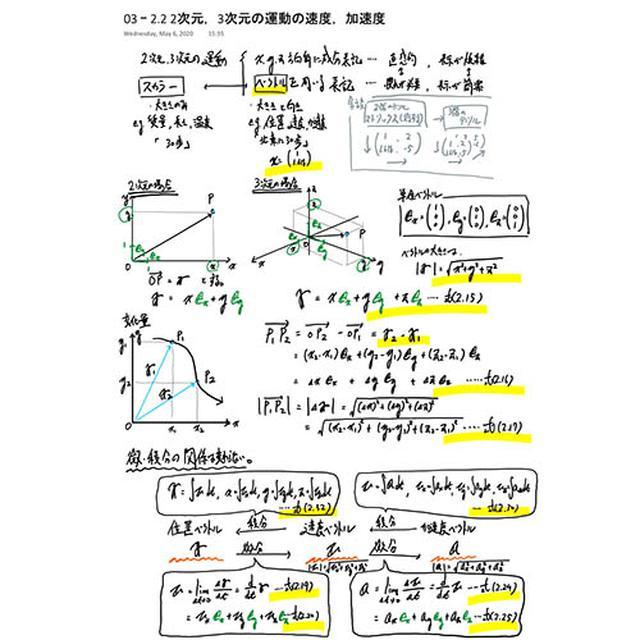 画像: 善甫助教の手書きの数式。