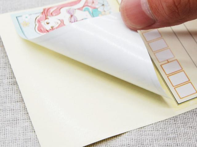 画像: お好みの封筒や小包みにピタッと張りつけ