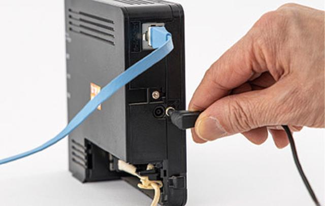 画像7: 購入したルーターを部屋に設置して、インターネット回線とつなぐ