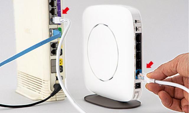 画像6: 購入したルーターを部屋に設置して、インターネット回線とつなぐ